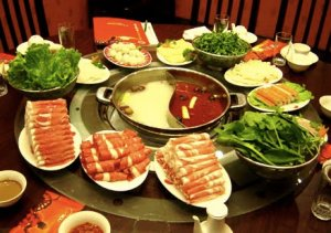Hot Pot looks something like this. For some reason I didn't take a picture of our meal.