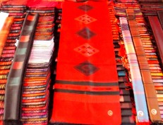 Rows of scarves